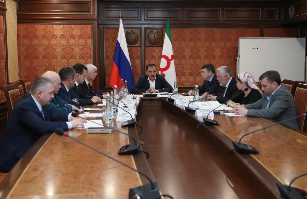 Путин обсудил сглавой Ингушетии положение дел врегионе