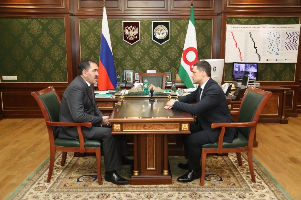 Власти Ингушетии иПсковской области договорились осотрудничестве